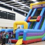 Slide on the Giant Inflatable Drop Slide at the Giant Easter Egg Hunt Melbourne